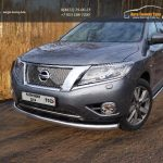 Защита передняя нижняя 76,1 мм Nissan Pathfinder 2014+