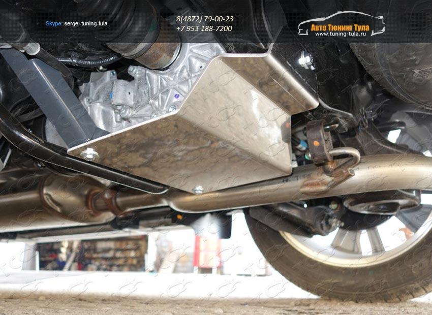 Защиты  (алюминий) 4 мм Nissan Pathfinder 2014+/арт.651-18