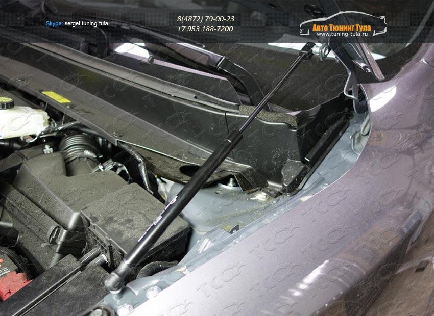 Упор капота (комплект) Nissan Pathfinder 2014+/арт.651-17