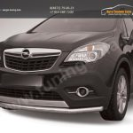 Защита переднего бампера d57 длинная Opel MOKKA 2012+