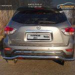 Защита задняя 60,3 мм Nissan Pathfinder 2014+