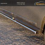 Пороги труба 76,1 мм Nissan Pathfinder 2014+