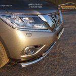 Защита передняя нижняя (двойная) 76,1/50,8 мм Nissan Pathfinder 2014+