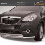 Защита переднего бампера d57+d42 двойная длинная Opel MOKKA 2012+