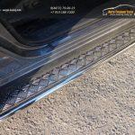 Пороги с площадкой 42,4 мм Nissan Pathfinder 2014+