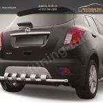 Защита заднего бампера d57 с декоративными элементами Opel MOKKA 2012+
