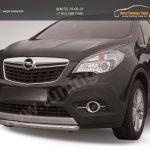 Защита переднего бампера d57 короткая Opel MOKKA 2012+