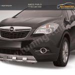 Защита переднего бампера d57 с декоративными элементами Opel MOKKA 2012+