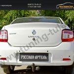 Накладки фар задние/АБС-пластик/Реснички на Renault Logan 2014+