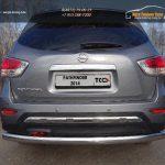Защита задняя (овальная) 75х42 мм Nissan Pathfinder 2014+