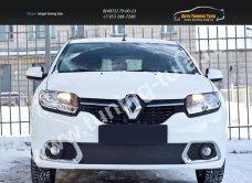 Зимняя заглушка решетки переднего бампера Renault Sandero 2014+/арт.136-5