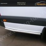 Боковая защита труба d60 Mercedes-Benz Sprinter 515 2014+