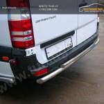 Задняя защита труба двойная d60+d42 Mercedes-Benz Sprinter 515 2014+