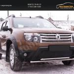 Зимняя заглушка решетки переднего бампера (без «дхо» и обвеса) Renault Duster 2010+
