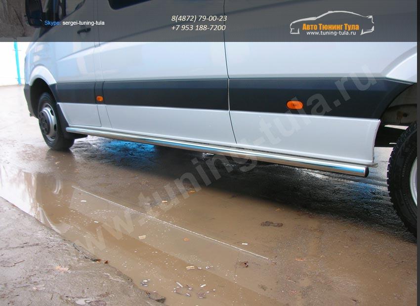 Пороги труба d60 Mercedes-Benz Sprinter 515 2014+/арт.803-3