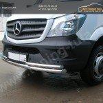 Передняя защита труба двойная d60+d42 Mercedes-Benz Sprinter 515 2014+