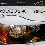 Накладки фар передние/ресницы VOLVO XC-90 2003+