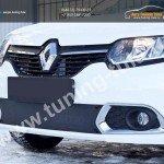 Зимняя заглушка решетки переднего бампера Renault Sandero 2014+