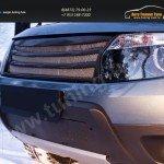 Зимняя заглушка решетки переднего бампера (без «дхо» с обвесом) Renault Duster 2010+
