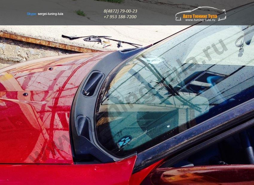 Накладка / Жабо  цельное PT /  Рено Сандеро /Renault Sandero Stepway 2009-2014 / арт.273-1
