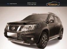 Защита переднего бампера d42+d42 двойная Nissan Terrano 2014+/арт.144-47