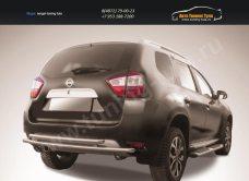 Защита заднего бампера d42+d42 двойная Nissan Terrano 2014+/арт.144-51