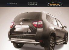 Защита заднего бампера d42 двойная Nissan Terrano 2014+/арт.144-52