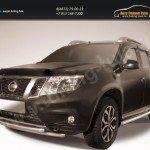 Защита переднего бампера d42+d42 двойная Nissan Terrano 2014+