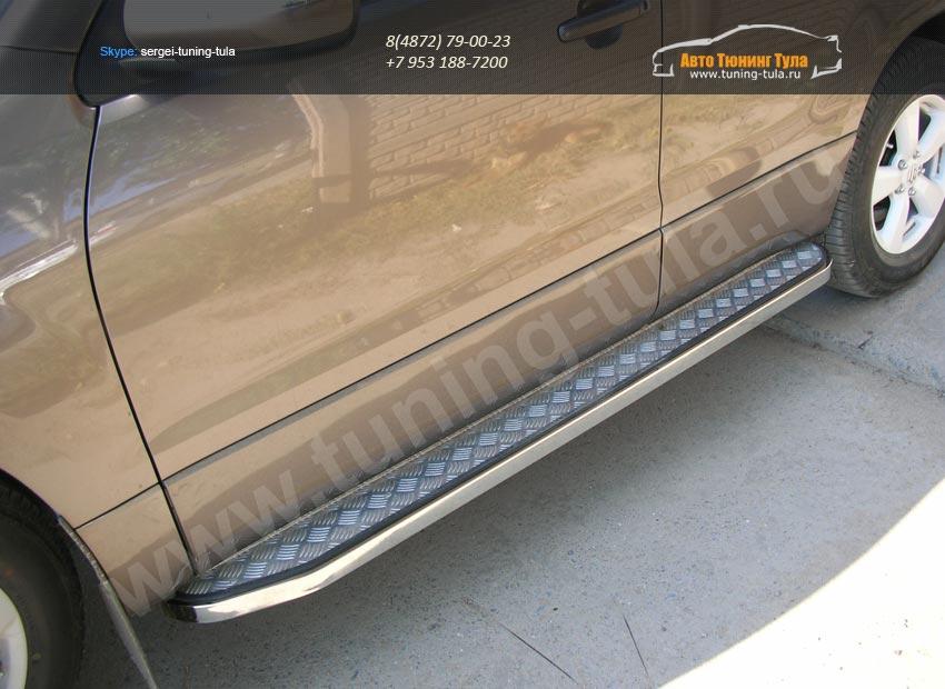 Пороги с накладкой лист 20×40 Suzuki Grand Vitara 2012+/арт.354-7