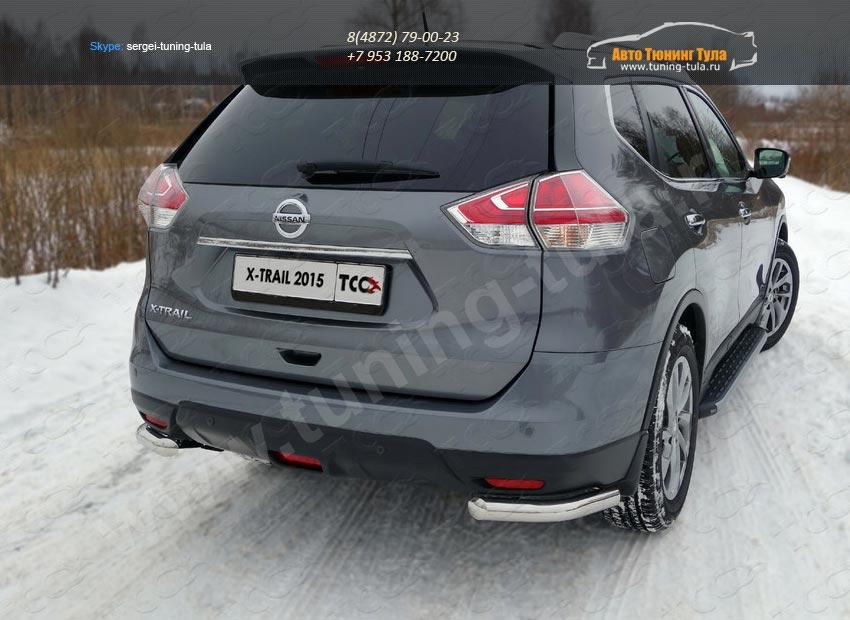 Nissan X-Trail 2015-Защита задняя (уголки) 60,3 мм /арт.808-5