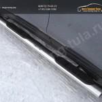 Nissan X-Trail 2015-Пороги овальные с накладкой 120х60 мм