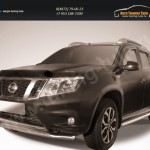 Защита переднего d57 бампера Nissan Terrano 2014+