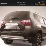 Защита заднего бампера d42 двойная Nissan Terrano 2014+