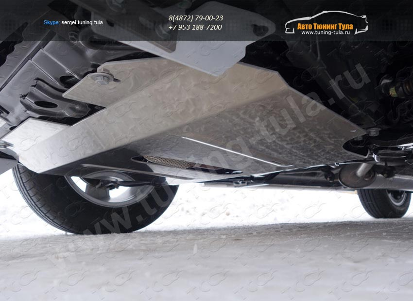 Защита картера (алюминий) 4 мм Geely Emgrand X7 2015+/арт.810-12