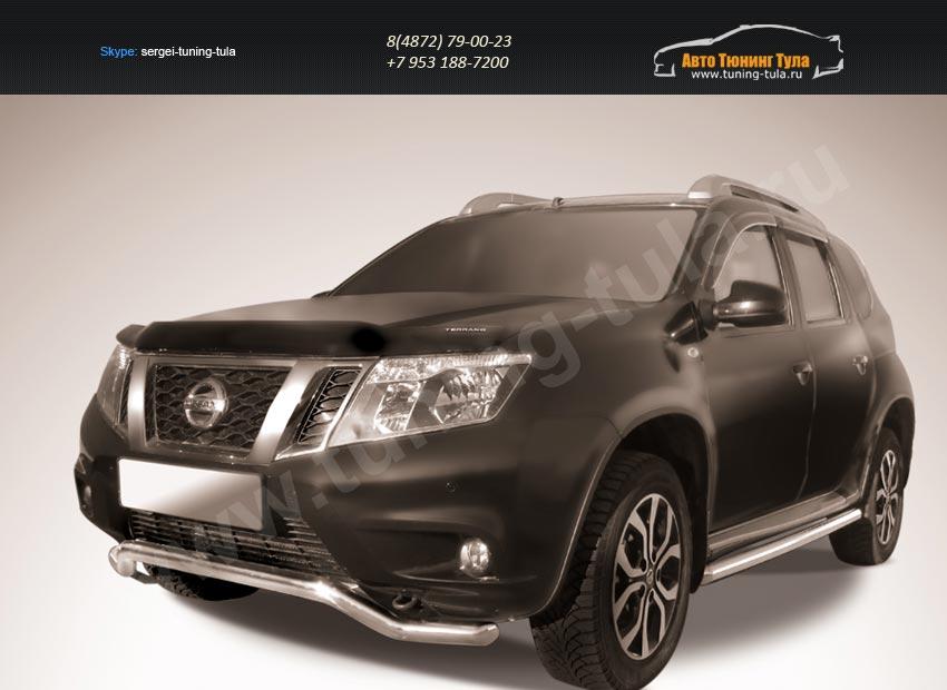 "Защита переднего d57 бампера ""волна"" Nissan Terrano 2014+/арт.144-44"
