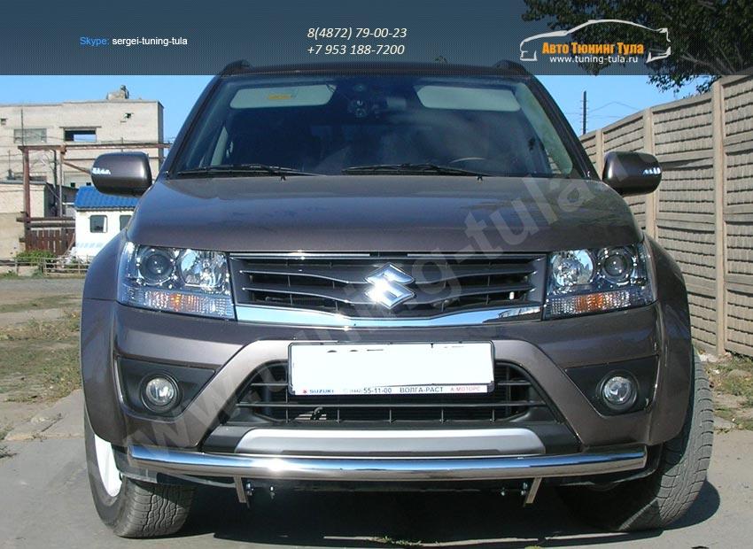 Передняя защита труба d60 Suzuki Grand Vitara 2012+/арт.354-8