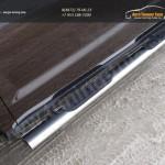 Пороги овальные с накладкой 120х60 мм Geely Emgrand X7 2015+