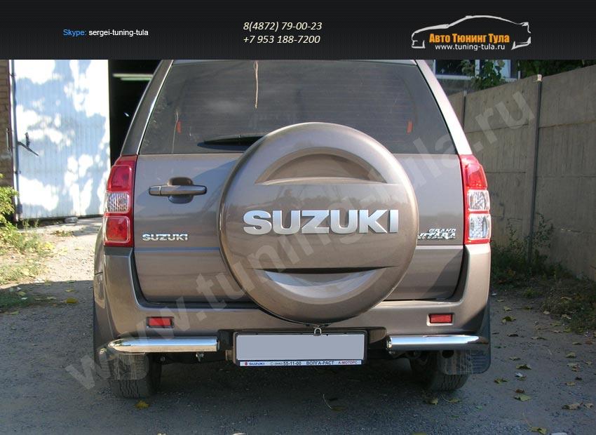 Защита задняя уголки d60 Suzuki Grand Vitara 2012+/арт.354-9