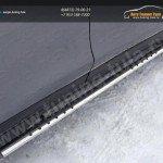 Nissan X-Trail 2015-Пороги овальные с проступью 75х42 мм