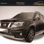 Защита переднего d57+d42 бампера двойная Nissan Terrano 2014+