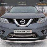 Nissan X-Trail 2015-Защита передняя нижняя (длинная) 60,3 мм