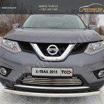 Nissan X-Trail 2015-Защита передняя нижняя (короткая) 60,3 мм