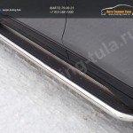 Nissan X-Trail 2015-Пороги с площадкой (нерж. лист) 60,3 мм