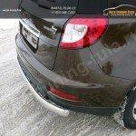 Защита задняя (овальная) 75х42 мм Geely Emgrand X7 2015+