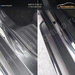 Nissan X-Trail 2015-Накладки на пороги (лист зеркальный) 1мм