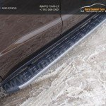 Пороги алюминиевые с пластиковой накладкой 1720 мм Geely Emgrand X7 2015+