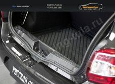 Накладка на порожек багажника Renault Sandero 2014+/арт.136-6