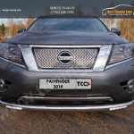 Защита передняя нижняя (с ходовыми огнями) 76,1 мм Nissan Pathfinder 2014+