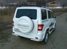 UAZ Patriot 2015-Защита задняя (уголки) 76,1 мм / арт.809-19