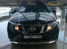 Защита передняя нижняя (овальная (с ходовыми огнями)) 75х42 мм Nissan Terrano 2014+/арт.144-25-1